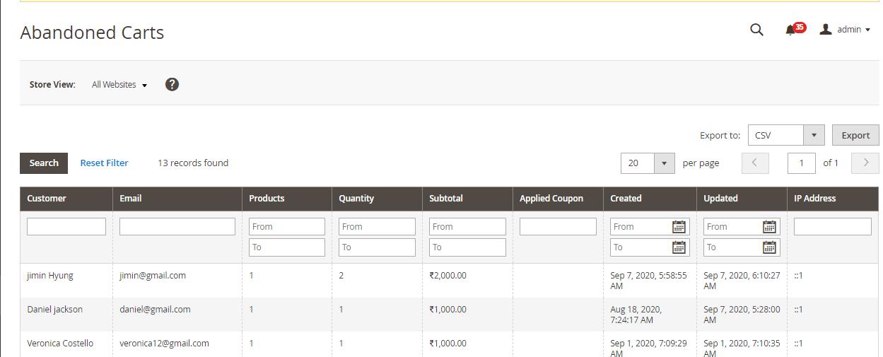 order report